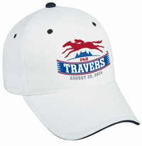 2014 Travers Stakes Brushed Cotton Twill Cap - White/Navy