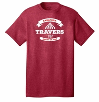 2015 Travers Stakes Event Logo Adult T-Shirt Heather Red