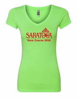 2016 Saratoga Next Level Ladies', Neon Heather Green