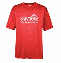 2016 Saratoga Ultra Club Men's Performance Tee, Red Heather