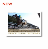 American Pharoah Triple Crown Collector's Poster