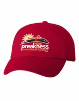 Event Logo Garment Washed Cotton Twill Cap Red