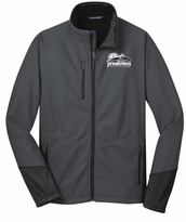 Event Logo Softshell Jacket Black Magnet Grey
