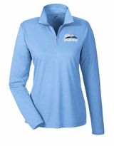 Ladies' Event Logo 1/4 Zip Pullover Columbia Blue Heather