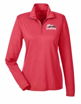 Ladies' Event Logo 1/4 Zip Pullover Red Heather