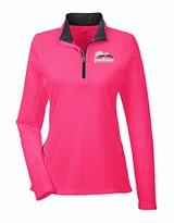 Ladies' Event Logo 1/4 Zip Pullover Heliconia