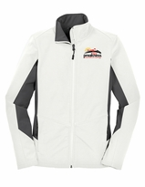 Ladies' Event Logo Jacket Marshmallow/Battleship Grey