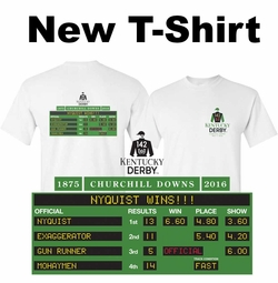 Nyquist Wins! Kentucky Derby 142 WIN PLACE SHOW T-Shirt