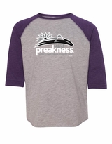 Youth Event Logo Baseball T-Shirt Vintage Heather/Purple