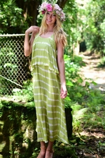 Alama Long Dress in Tie Die