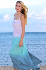 Angels by the Sea Aqua Ombre One Size Long Dress