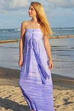 Angels by the Sea Purple Long Beach Dress