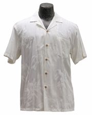 Bamboo Garden White Hawaiian Wedding Shirt