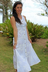 Bamboo Garden White Wedding Dress