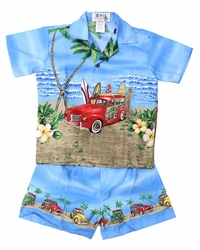 Boys' Hawaiian Shirts & Shorts Sets