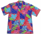 Cartoon Jungle Purple Hawaiian Shirt