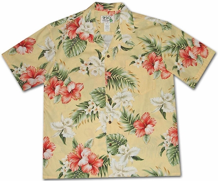 Enchangtment Luau Yellow Hawaiian Shirt