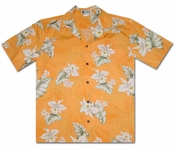 Hilo Orchid Carrot Hawaiian Shirt