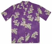 Hilo Orchid Purple Hawaiian Shirt