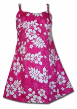 Island Fruitness Pink Girls Spaghetti Dress