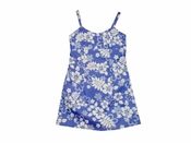 Island Fruitness Purple Girls Spaghetti Dress