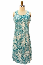 Island Garden Turquoise Tank Dress