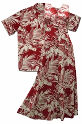 Island Palms Matching Hawaiian Shirts and Dresses