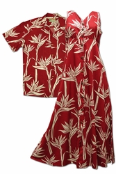 Kahala Paradise Matching Hawaiian Shirts and Dresses