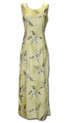 Kahala Sands Long Tank Hawaiian Dress