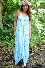 Kaimi Long Dress in Angel Wing