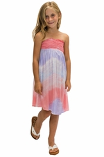 Kids Kula Dress in Wave