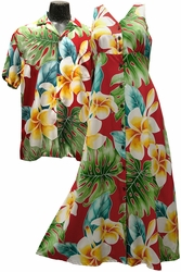 Mega Plumeria Hawaiian Shirts and Dresses