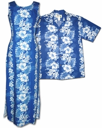 Royal Hibiscus Hawaiian Shirts and Dresses