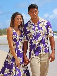 Tropic Fever Matching Hawaiian Dresses & Shirts