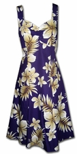 Tropic Fever Purple Tank Flounce Dress