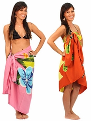 Tropical Floral Print Sarongs / Dresses