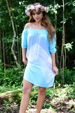 Ualani Short Dress in Wave