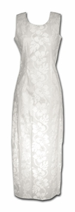 Wedding White Hibiscus Panel Long Tank Dress