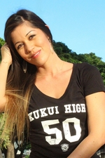 Women's Kukui High Black Fitted Tee Shirt