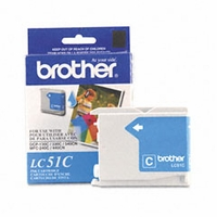 Brother (BRT-LC51C)  LC1000C, 7-911775  Inkjet Cartridge, Cyan