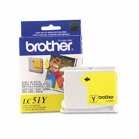 Brother (BRT-LC51Y)  LC1000Y, 7-911777  Inkjet Cartridge, Yellow