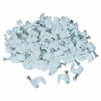 Cable-Clip White RG6 (100 pieces per bag)