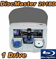 DiscMaster 201BD Automated 1 Drive Blu-ray CD DVD Publisher + 100 Disc Kiosk Kit