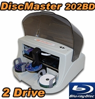DiscMaster 202BD Automated 2 Drive Blu-ray CD DVD Publisher + 100 Disc Kiosk Kit