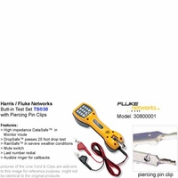 Harris Fluke Networks 30800-001 TS30 Series Butt-in Telephone Test Set with piercing pin clips