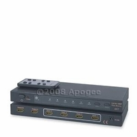 HDMI 4x2 True Matrix Switcher v1.3 w/ 35m Signal Repeater Equalized Chipset (HDMIMX42)