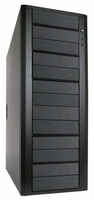 Hercules (CS-ILY-HER13/BSA) 13 Bay SATA DVD/CD Duplicator Case - Support 1 to 11 Target with 400W Power Supply (Black)