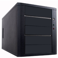 Hercules (CS-ILY-HER5BSA) 5 Bay SATA DVD Duplicator Case - Support 1 to 3 Target with 250W Power Supply (Black)