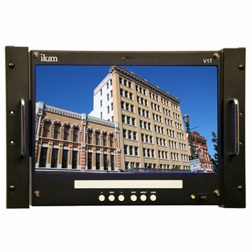 "* ikan (V17) 17"" High Definition Rackmount TFT LCD Monitor, 1920 x 1080 resolution"