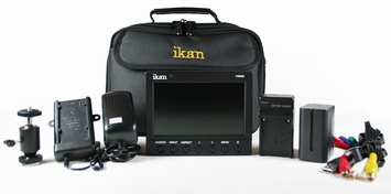 "Ikan (V5600-DK-C) 5.6"" HD Portable LCD Monitor Deluxe Kit for Canon 9000 Series Batteries - HDMI  Input"